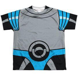 Batman The Animated Series Mr Freeze Uniform Short Sleeve Youth Poly Crew T-Shirt