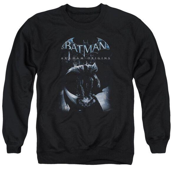 Batman Arkham Origins Perched Cat Adult Crewneck Sweatshirt
