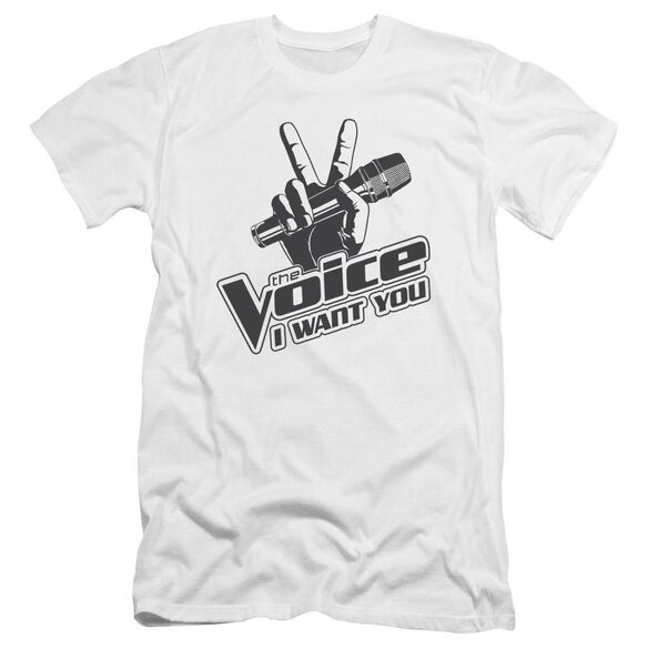 The Voice One Color Logo Premuim Canvas Adult Slim Fit