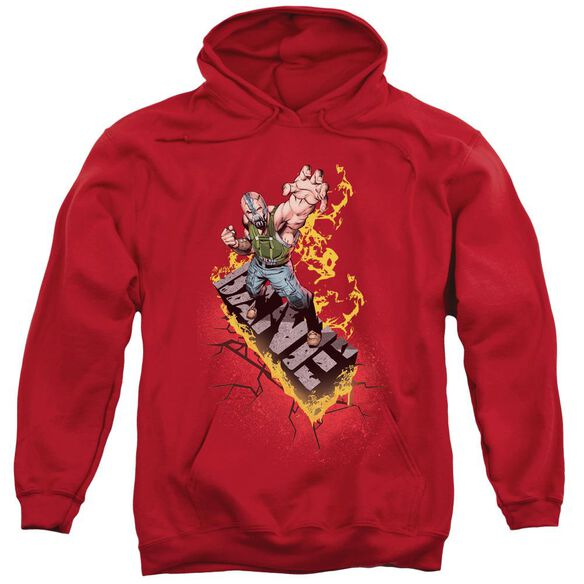 Dark Knight Rises Bane On Fire Adult Pull Over Hoodie