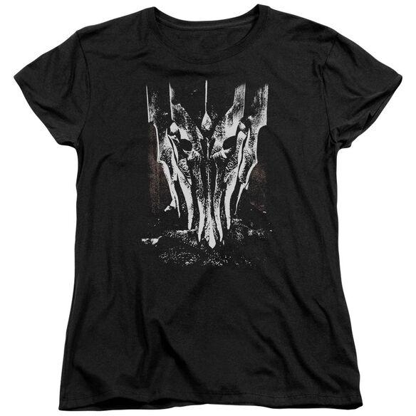 Lor Big Sauron Head Short Sleeve Womens Tee T-Shirt