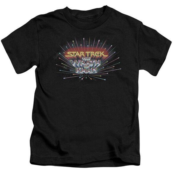 Star Trek Khan Logo Short Sleeve Juvenile Black T-Shirt