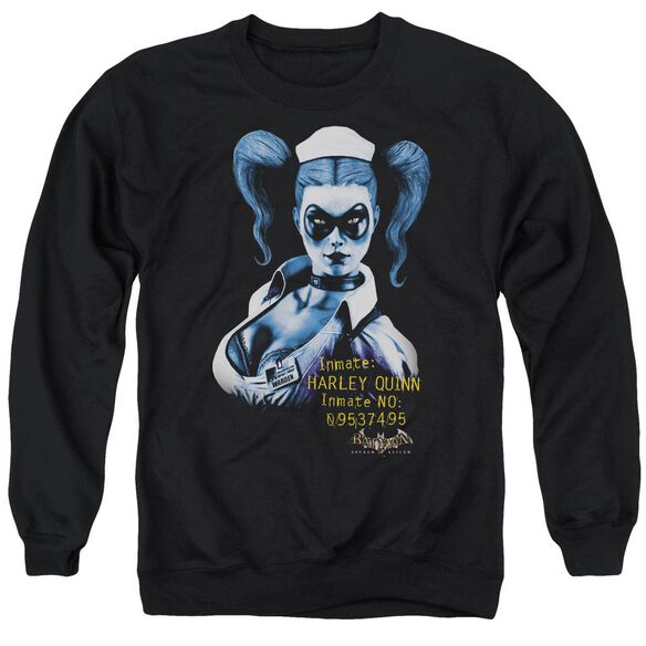 Batman Aa Arkham Harley Quinn - Adult Crewneck Sweatshirt - Black