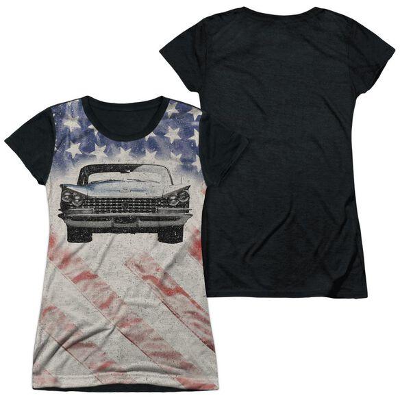 Buick 1959 Electra Flag Short Sleeve Junior Poly Black Back T-Shirt