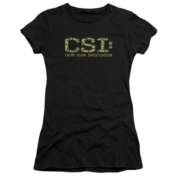 Csi Collage Logo Short Sleeve Junior Sheer T-Shirt