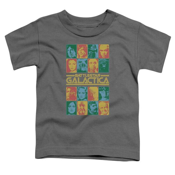 Bsg 35 Th Anniversary Cast Short Sleeve Toddler Tee Charcoal T-Shirt