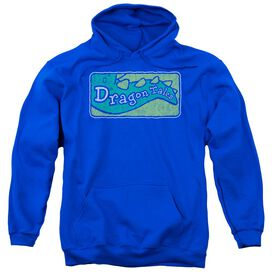 Dragon Tales Logo Distressed Adult Pull Over Hoodie Royal