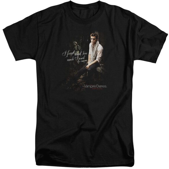 Vampire Diaries I Used To Care Short Sleeve Adult Tall T-Shirt