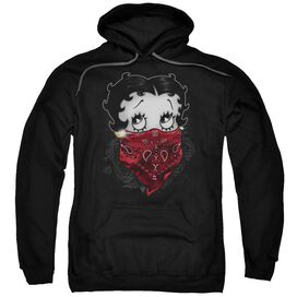 Betty Boop Bandana &Amp; Roses Adult Pull Over Hoodie