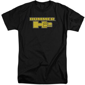 Hummer H2 Block Logo Short Sleeve Adult Tall T-Shirt