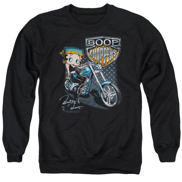 Betty Boop Choppers Adult Crewneck Sweatshirt