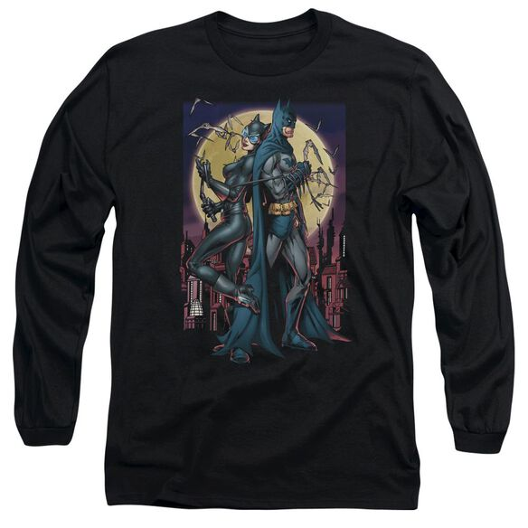 Batman Paint The Town Red Long Sleeve Adult T-Shirt