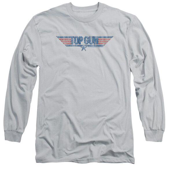 Top Gun 8 Bit Logo Long Sleeve Adult T-Shirt