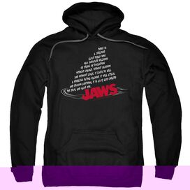 Jaws Dorsal Text-adult