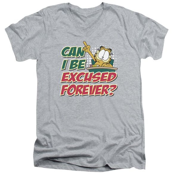 GARFIELD EXCUSED FOREVER - S/S ADULT V-NECK - ATHLETIC HEATHER T-Shirt