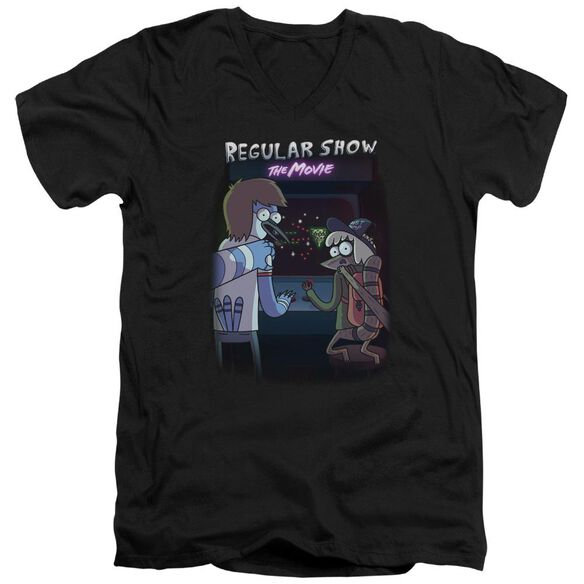Regular Show Rs The Movie Short Sleeve Adult V Neck T-Shirt