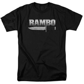 Rambo:First Blood Knife Short Sleeve Adult Black T-Shirt