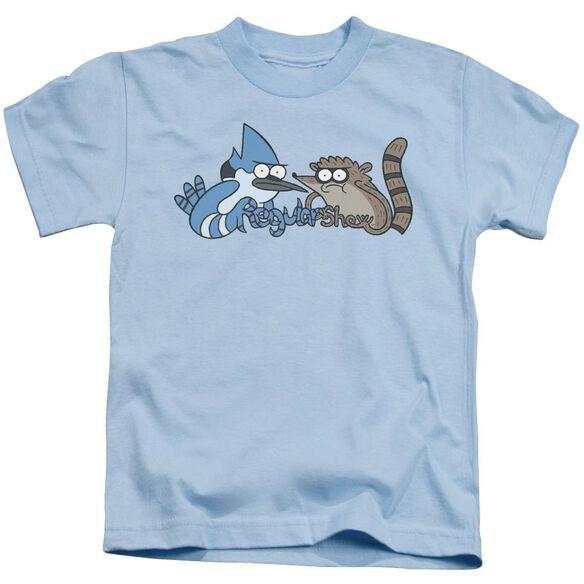 The Regular Show Tattoo Art Short Sleeve Juvenile Light Blue T-Shirt
