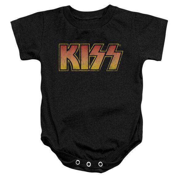 Kiss Classic Infant Snapsuit Black