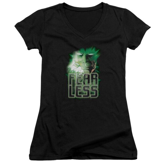 Green Lantern Fearless Junior V Neck T-Shirt