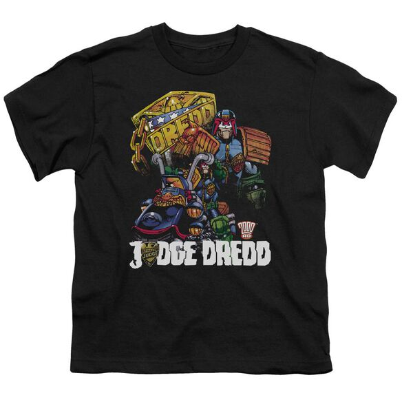 Judge Dredd Bike And Badge Short Sleeve Youth T-Shirt