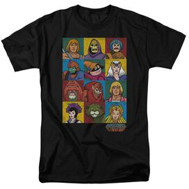 Masters Of The Universe Character Heads Short Sleeve Adult T-Shirt