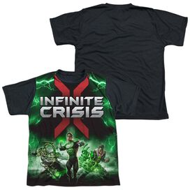 Infinite Crisis Ic Green Lantern Short Sleeve Youth Front Black Back T-Shirt