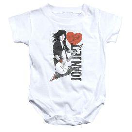 Joan Jett Jump Jett Infant Snapsuit White