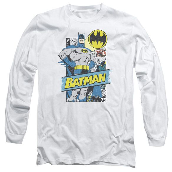 Batman Out Of The Pages Long Sleeve Adult T-Shirt