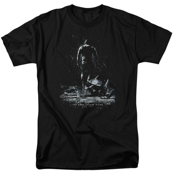 Dark Knight Rises Bane Poster Short Sleeve Adult Black T-Shirt