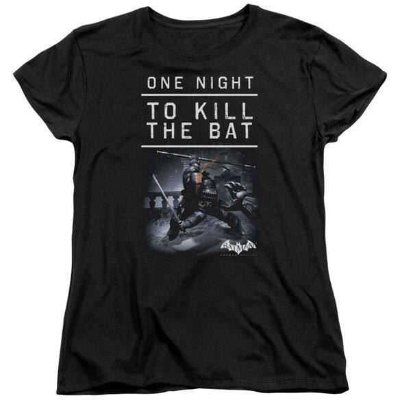 Batman Arkham Origins One Night Short Sleeve Womens Tee T-Shirt