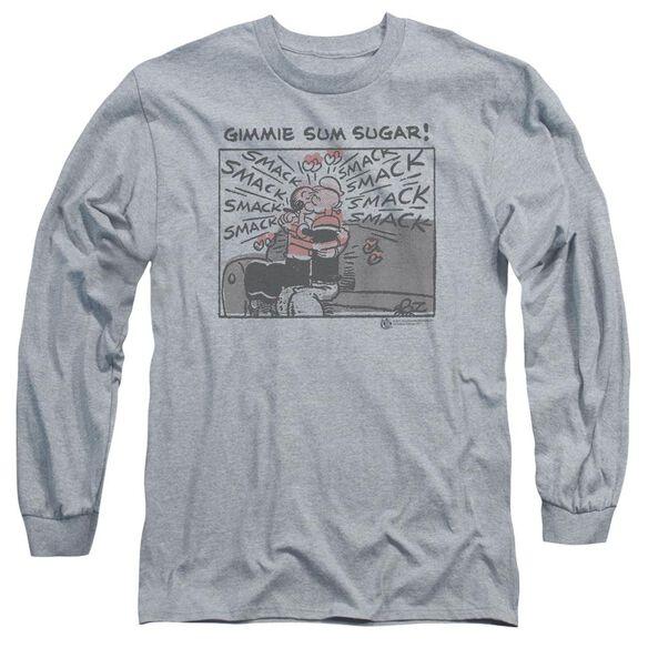 Popeye Sweet Love Long Sleeve Adult Athletic T-Shirt