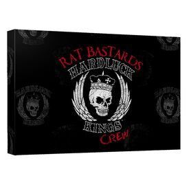 Hardluck Kings Rat Bastards Logo Quickpro Artwrap Back Board