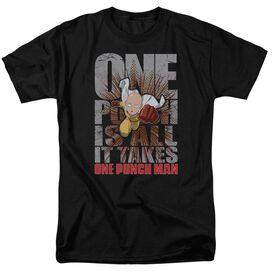 One Punch Man One Punch Is All It Takes Short Sleeve Adult T-Shirt