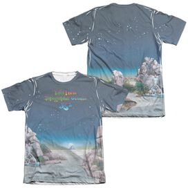 Yes Topographic Oceans (Front Back Print) Adult Poly Cotton Short Sleeve Tee T-Shirt