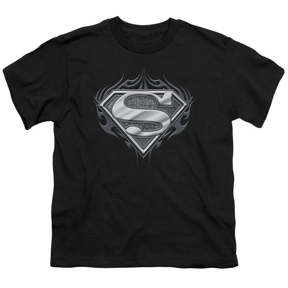Superman Biker Metal Short Sleeve Youth T-Shirt