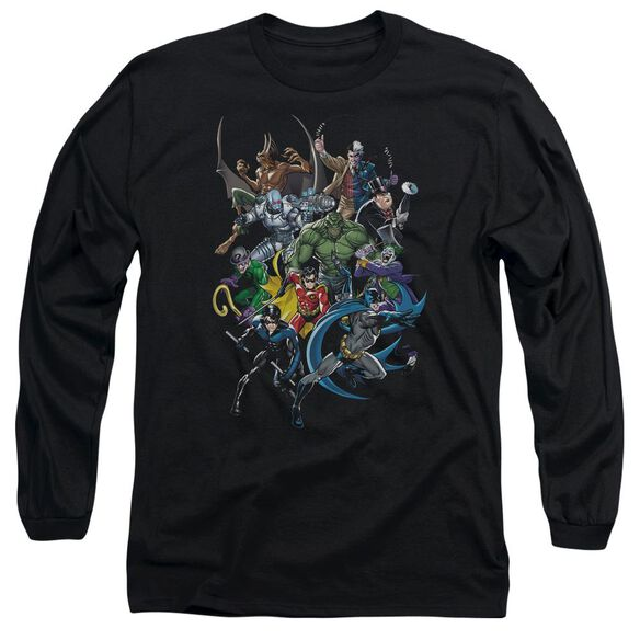 Batman Saints And Psychos Long Sleeve Adult T-Shirt