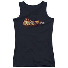 Constantine Logo In Flames Juniors Tank Top