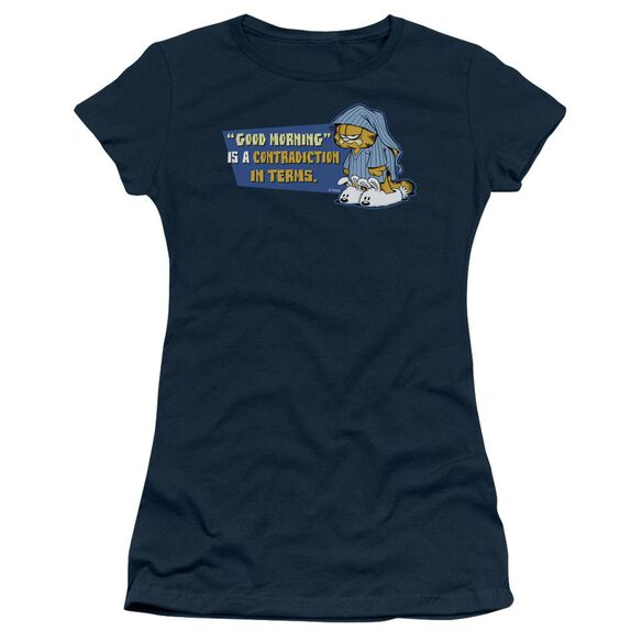 GARFIELD CONTRADICITION IN TERMS - S/S JUNIOR SHEER - NAVY T-Shirt