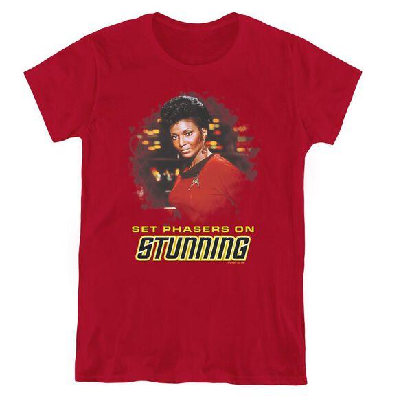 STAR TREK STUNNING - S/S WOMENS TEE - CARDINAL T-Shirt