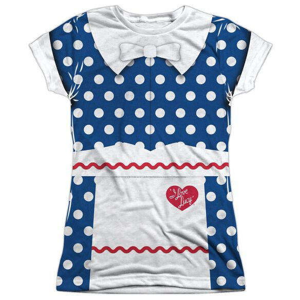 I Love Lucy Lucy Costume Short Sleeve Junior Poly Crew T-Shirt