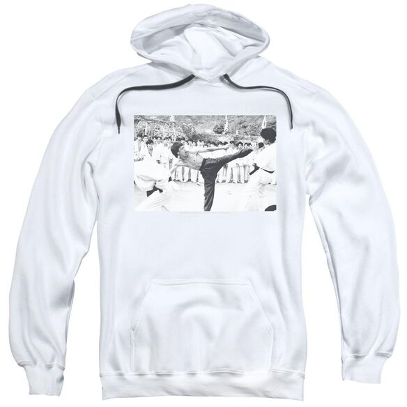 Bruce Lee Kick To The Head Adult Pull Over Hoodie