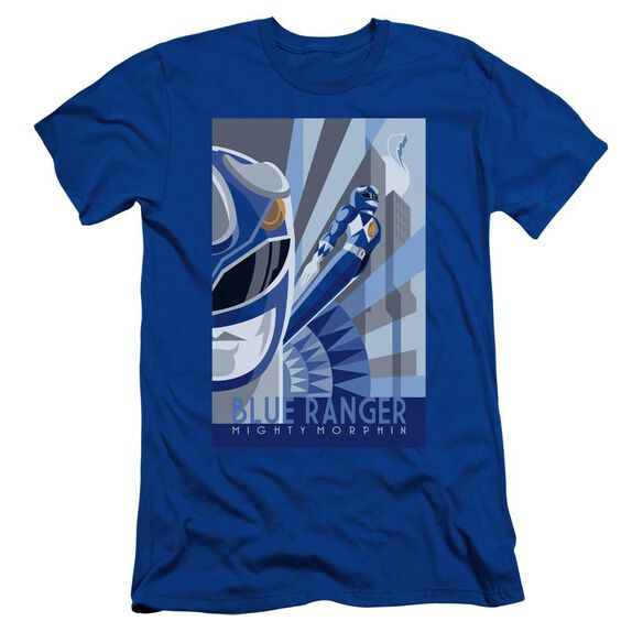 Power Rangers Ranger Deco Short Sleeve Adult Royal T-Shirt