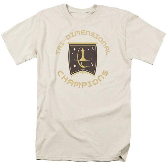 Star Trek Tri Dimensional Champs Short Sleeve Adult Cream T-Shirt