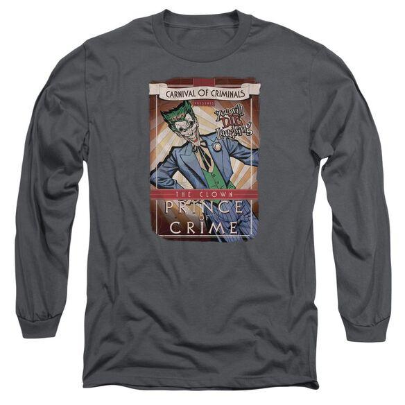 BATMAN CLOWN PRINCE - L/S ADULT 18/1 - CHARCOAL T-Shirt