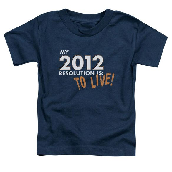 To Live! Short Sleeve Toddler Tee Navy Lg T-Shirt