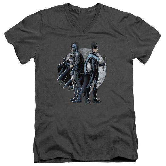 Batman Spotlight Short Sleeve Adult V Neck T-Shirt
