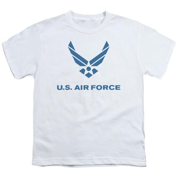 Air Force Distressed Logo Short Sleeve Youth T-Shirt