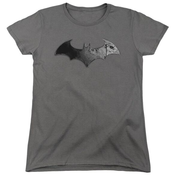 Arkham City Bat Logo Short Sleeve Womens Tee T-Shirt