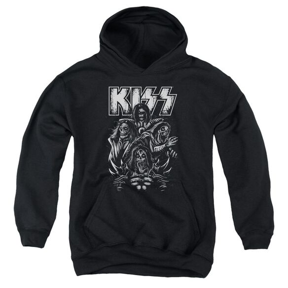 Kiss Skull Youth Pull Over Hoodie